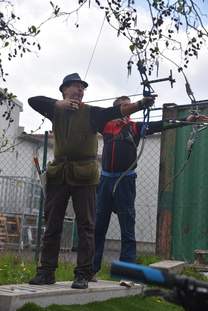 am Tag zuvor: Volker und Matthias von 60m
